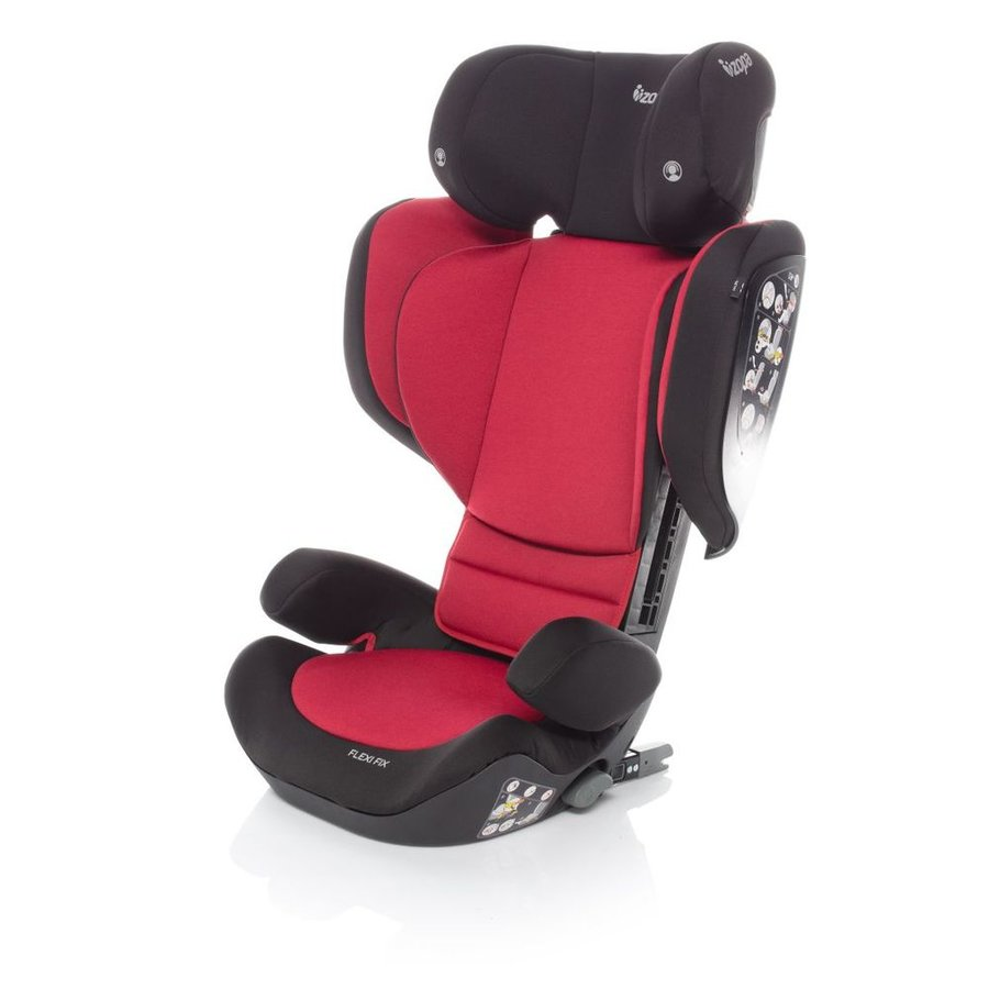 Červená dětská autosedačka Flexi Fix, ZOPA - nosnost 36 kg