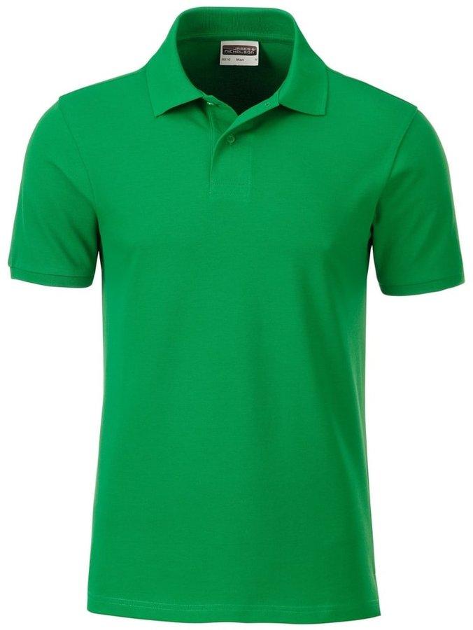 Zelená pánská polokošile s krátkým rukávem James & Nicholson - velikost S