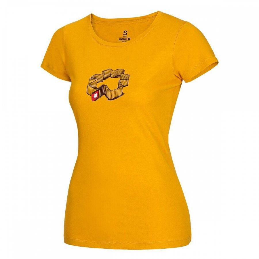 Žluté dámské turistické tričko s krátkým rukávem Ocún