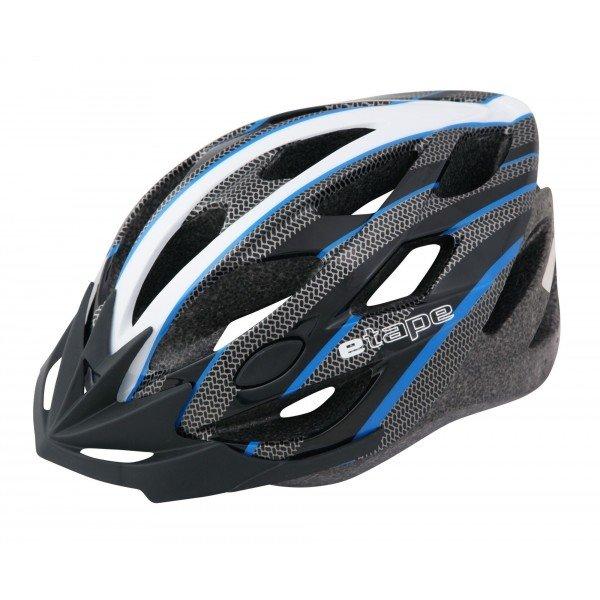 Bílo-černá pánská cyklistická helma Etape - velikost 55-58 cm