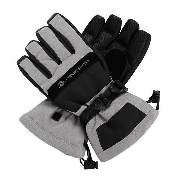 Šedé lyžařské rukavice Alpine Pro