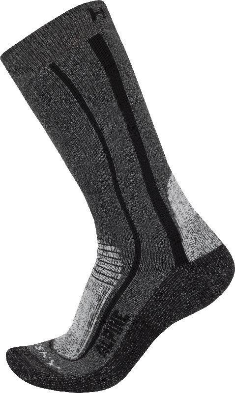 Šedé pánské trekové ponožky Husky - velikost 36-40 EU
