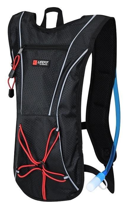 Černý cyklistický batoh Lifefit