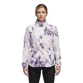Bílá dámská běžecká bunda s kapucí Adidas