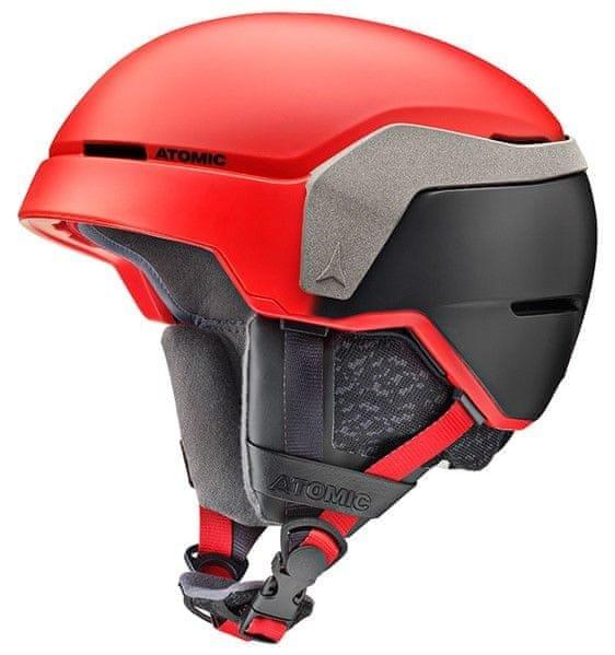Černo-červená lyžařská helma Atomic - velikost 55-59 cm