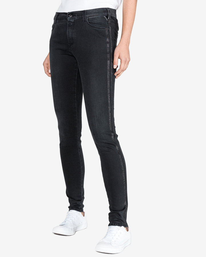 Černé dámské džíny Replay - velikost 27
