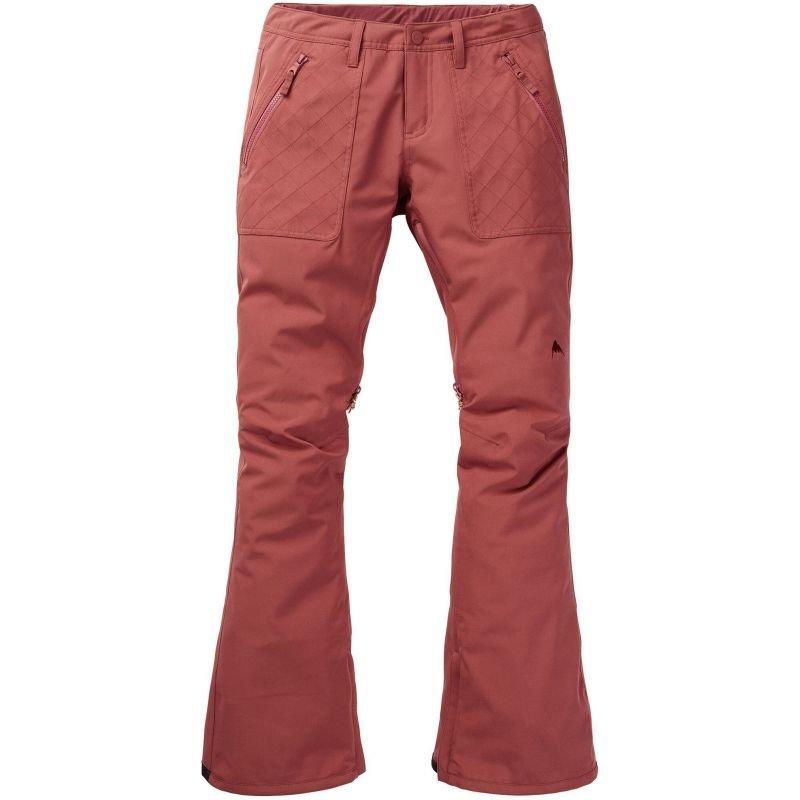 Hnědo-růžové dámské snowboardové kalhoty Burton