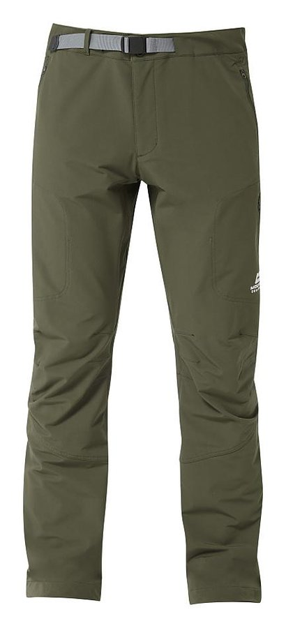 Zelené softshellové pánské turistické kalhoty Mountain Equipment