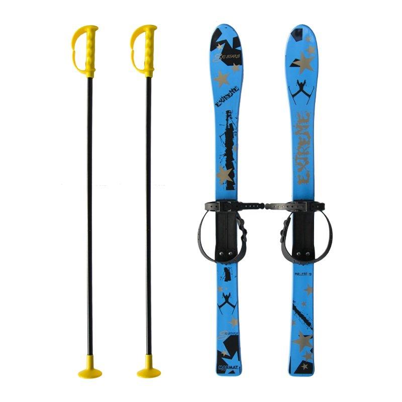 Modrá dětská sada na sjezdové lyžování Master - délka 90 cm