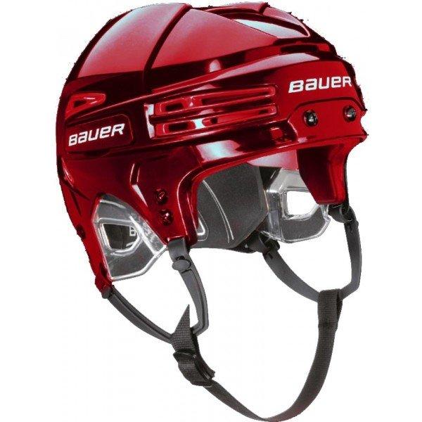 Červená hokejová helma Bauer