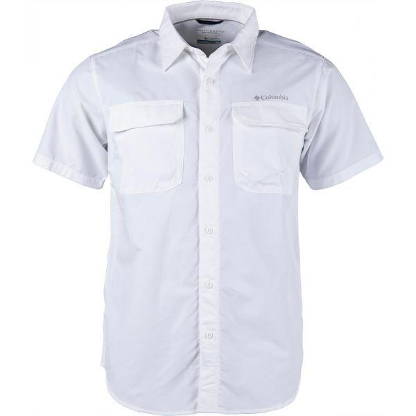 Bílá pánská košile s krátkým rukávem Columbia