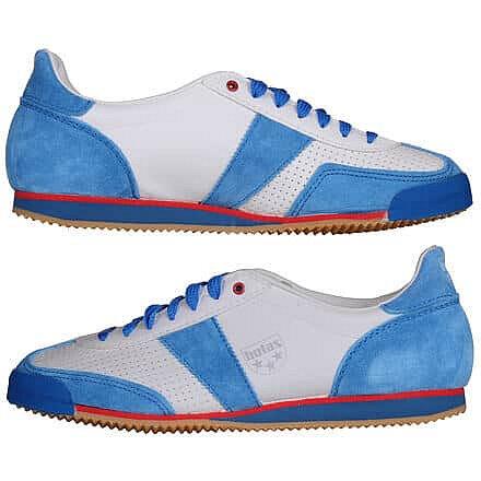 Boty na nohejbal - Classic halová obuv barva: bílá-modrá;velikost (obuv / ponožky): EU 44