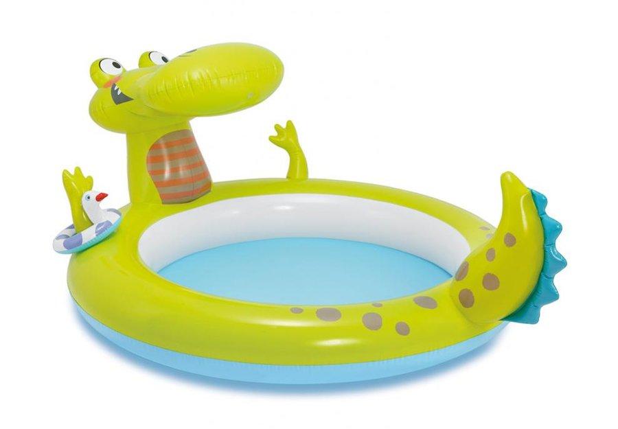 Nadzemní nafukovací dětský oválný bazén INTEX - délka 198 cm, šířka 160 cm a výška 91 cm