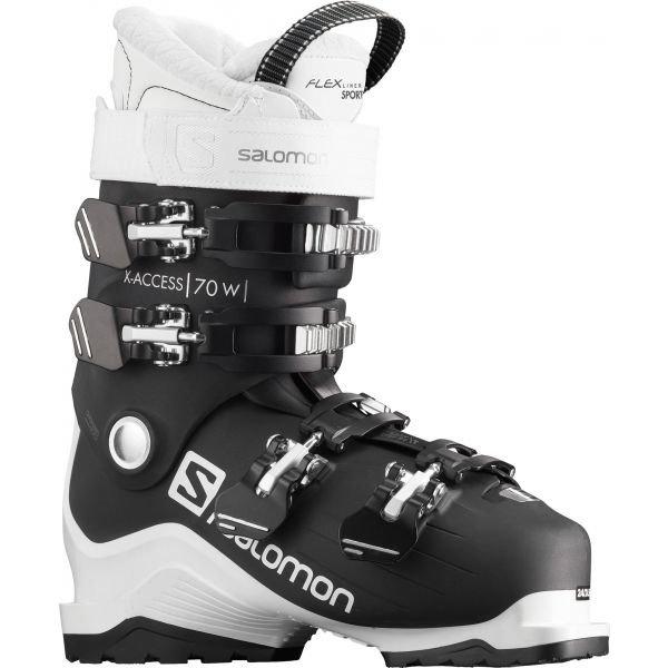 Bílo-černé dámské lyžařské boty Salomon - velikost vnitřní stélky 26-26,5 cm