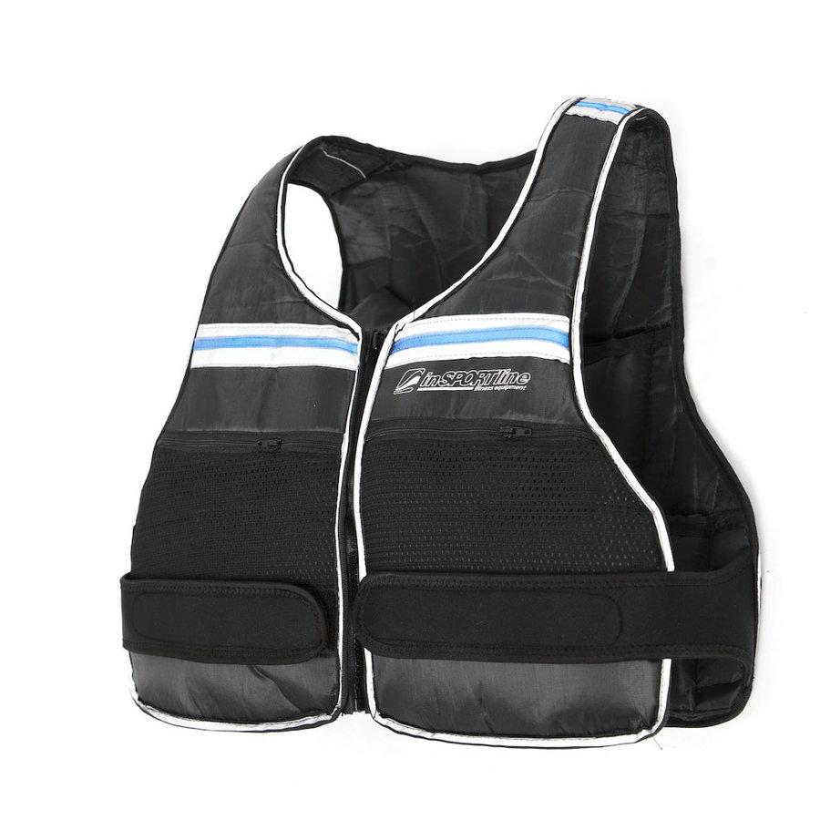 Černá zátěžová vesta Vestten, inSPORTline - 10 kg