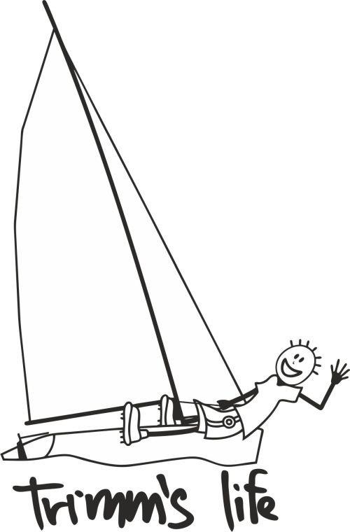 Červeno-oranžové pánské tričko s krátkým rukávem Jachting, Trimmslife - velikost XXL