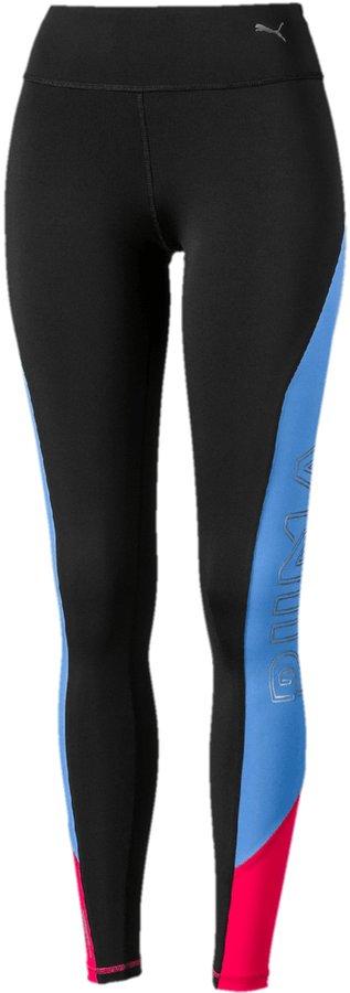 Černo-modré dámské běžecké legíny Puma