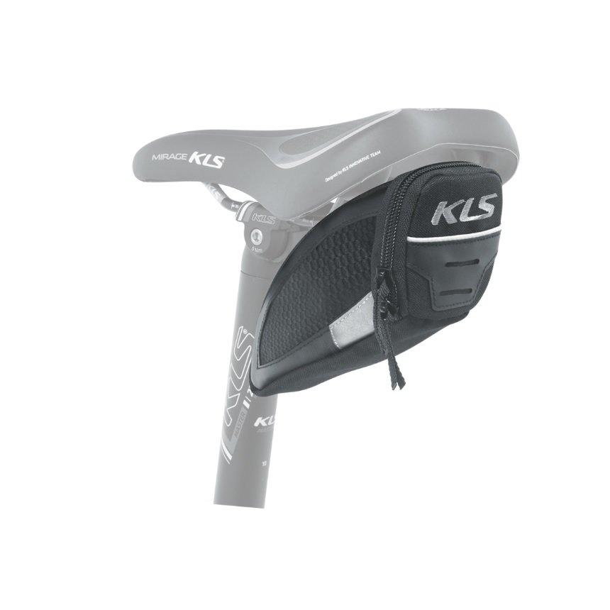 Černá brašna na kolo pod sedlo Challenger, Kellys - objem 0,3 l