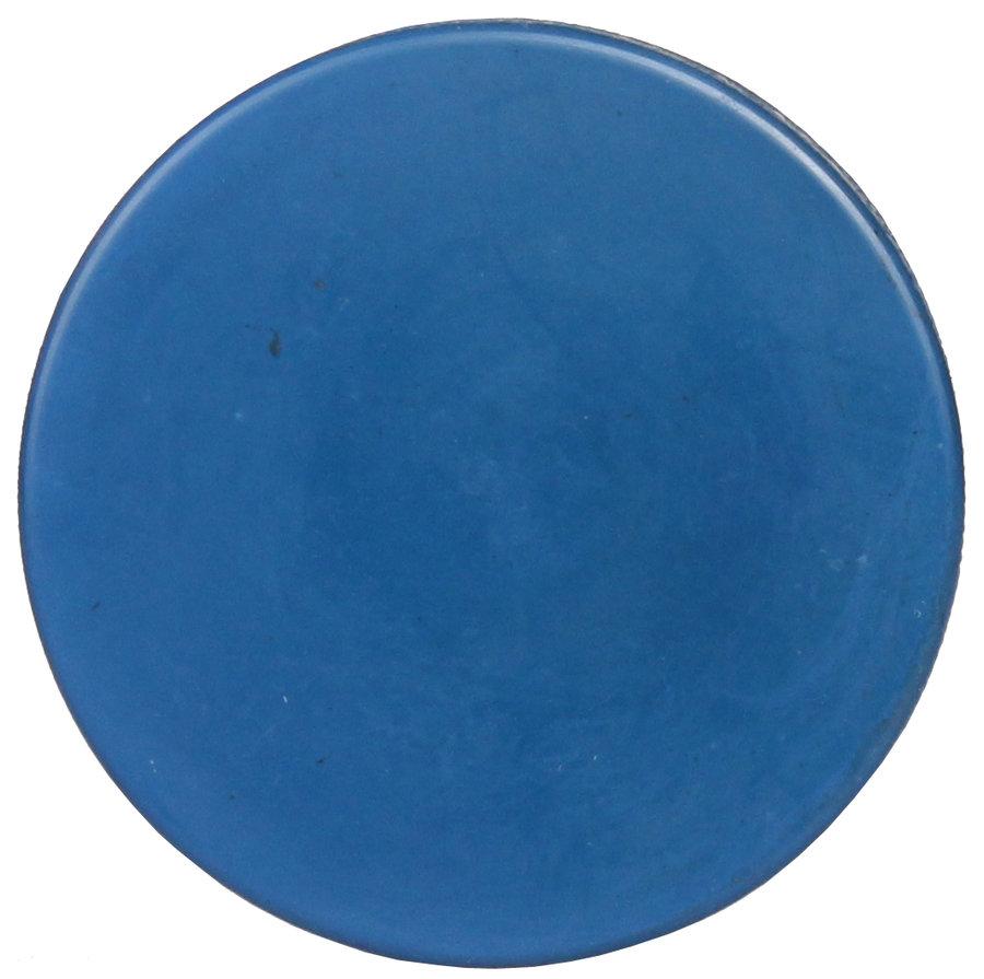 Modrý hokejový puk