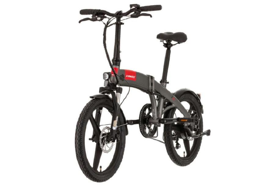 Šedé městské elektrokolo F50e, S-bikes