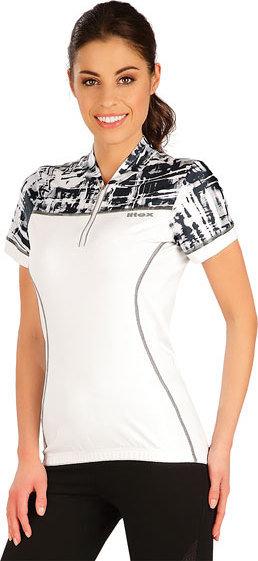 Bílý dámský cyklistický dres Litex - velikost M