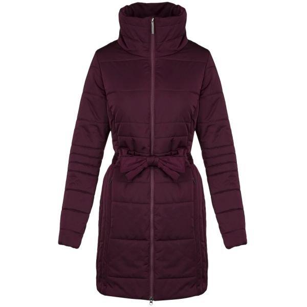Červený prošívaný dámský kabát Loap