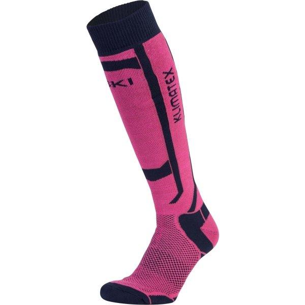Růžové dámské lyžařské ponožky Klimatex