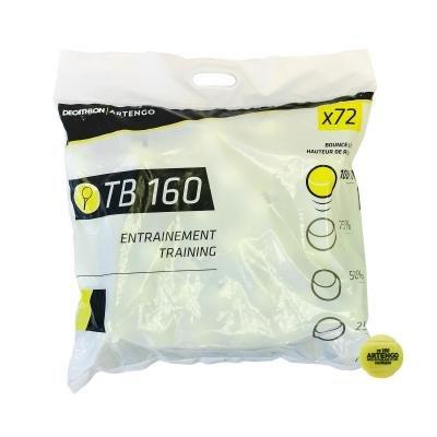 Žlutý tenisový míček Tb160, Artengo - 72 ks