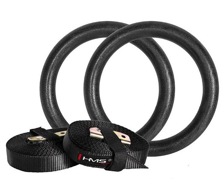 Gymnastický kruh - Gymnastické kruhy plastové s popruhy TX05 HMS
