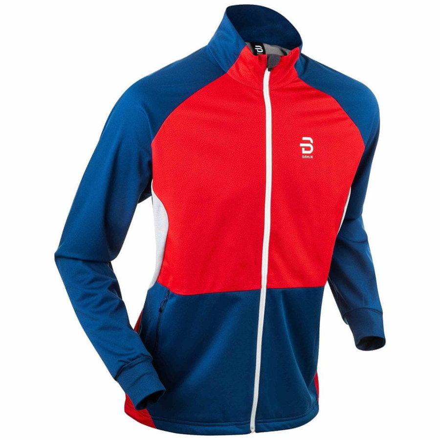 Červeno-modrá pánská bunda na běžky Bjorn Daehlie