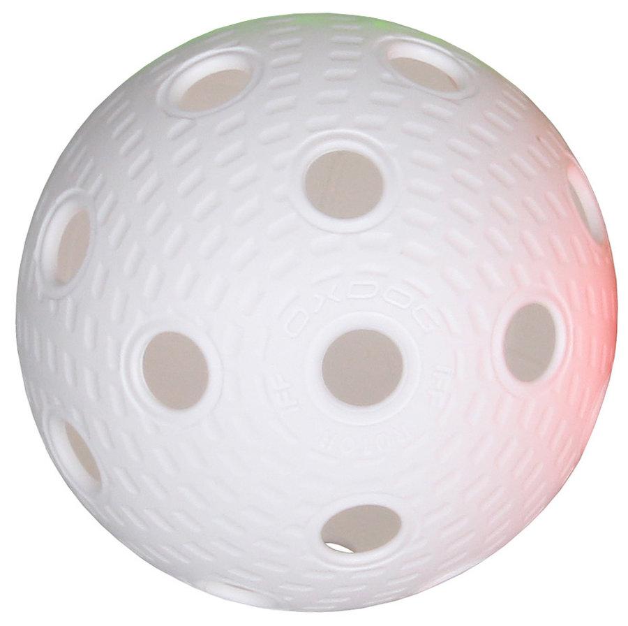 Bílý florbalový míček Aero Plus Ball, Salming