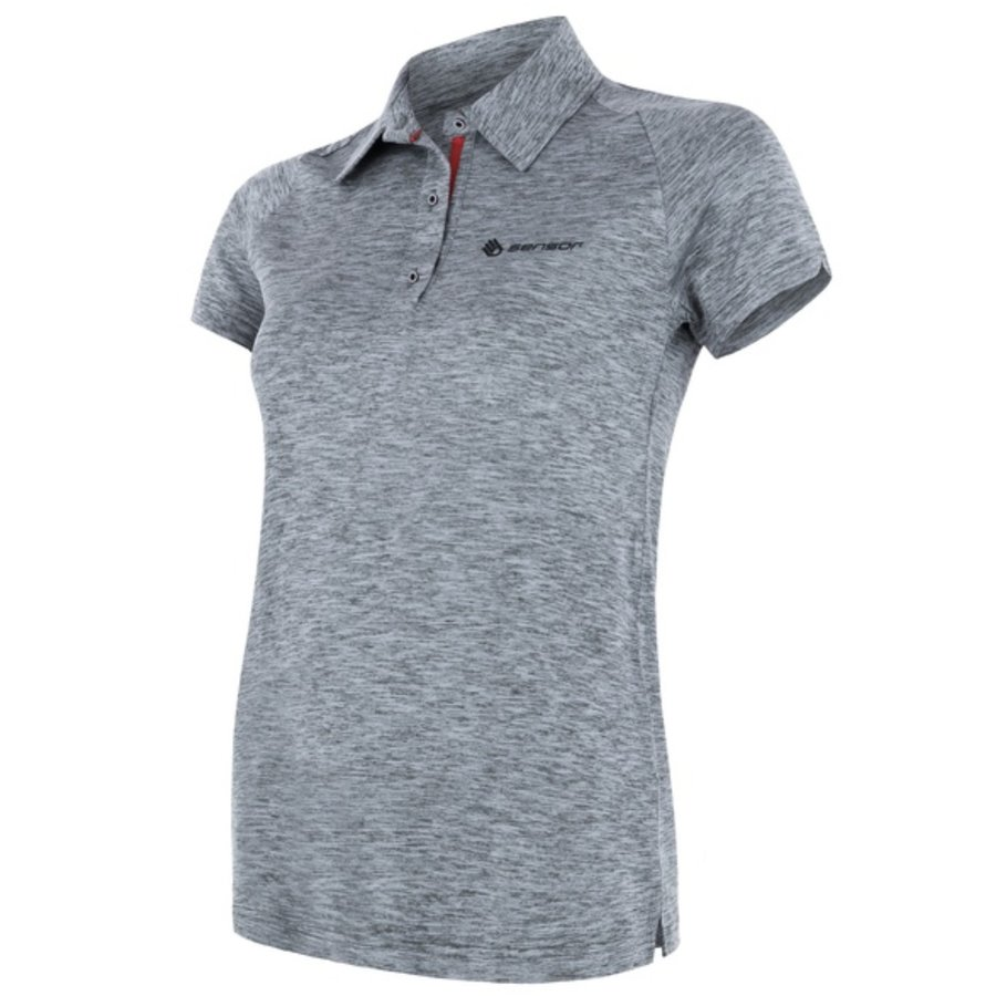 Šedé pánské funkční tričko s krátkým rukávem Sensor
