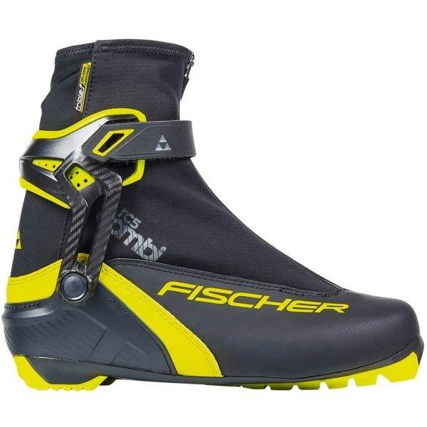 Černo-žluté boty na běžky Fischer - velikost 36 EU