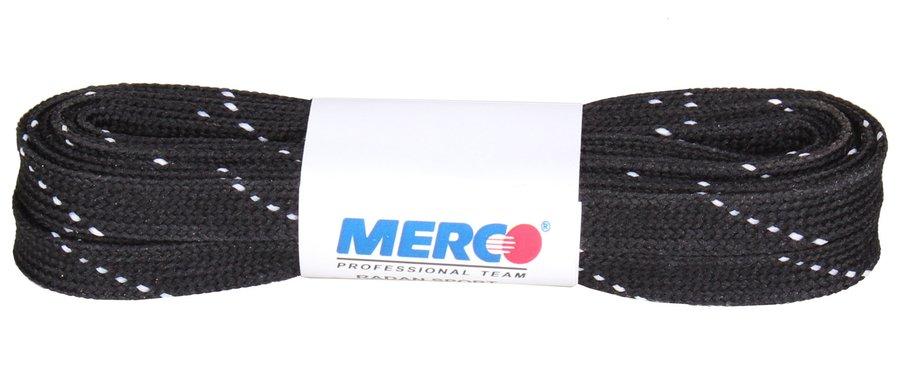 Černé tkaničky do hokejových bruslí Merco