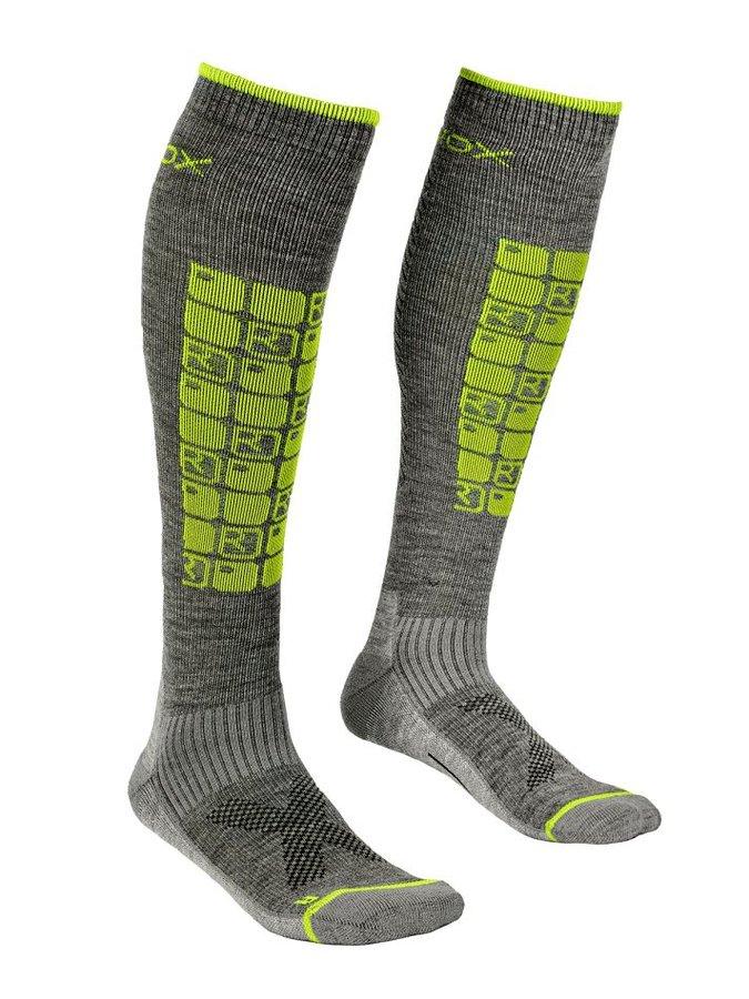 Šedo-zelené pánské lyžařské ponožky Ortovox