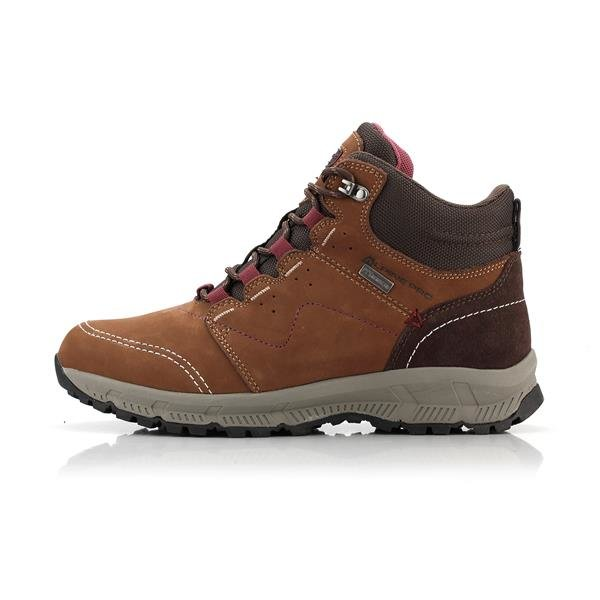 Hnědé nepromokavé dámské trekové boty Alpine Pro