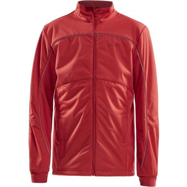 Červená dětská bunda na běžky bez kapuce Craft