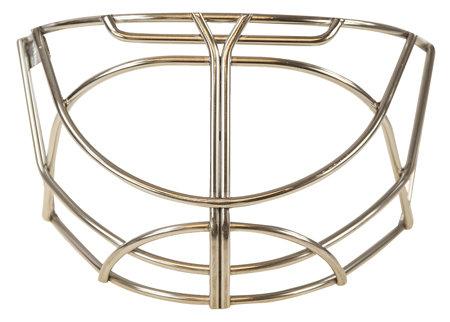 Stříbrná brankářská hokejová mřížka Bauer