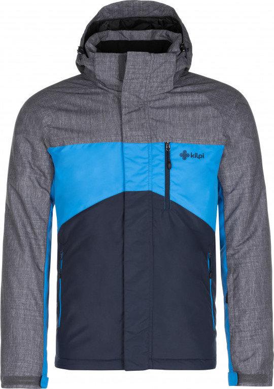 Modrá zimní pánská bunda s kapucí Kilpi