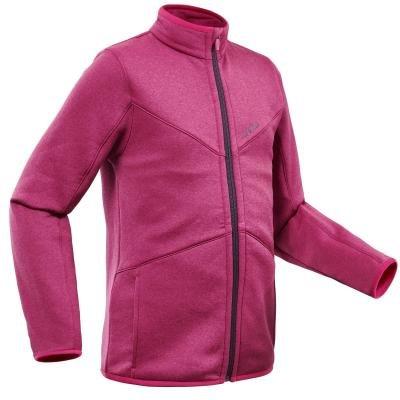 Růžová dívčí lyžařská mikina Wed'ze