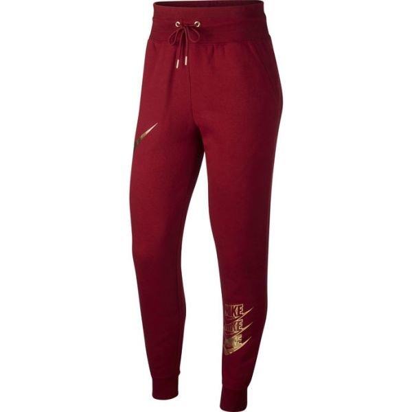 Červené dámské tepláky Nike
