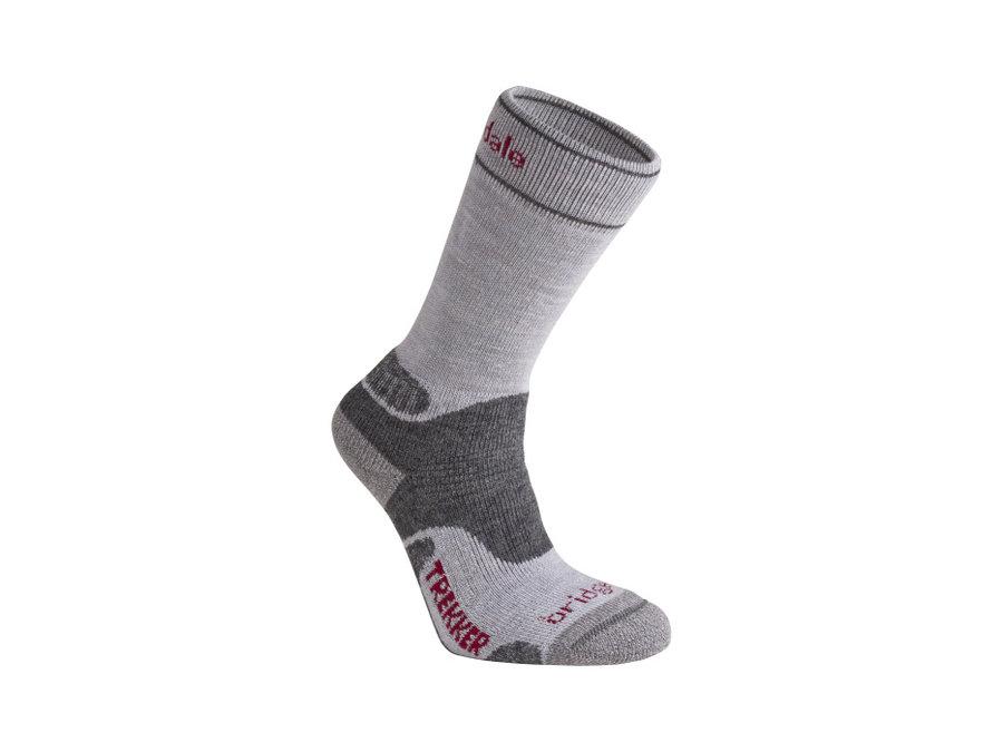 Šedé dámské trekové ponožky Bridgedale - velikost 38-40 EU