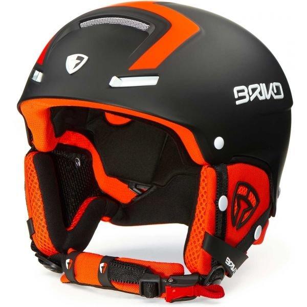 Černo-oranžová pánská lyžařská helma Briko - velikost 59-64 cm