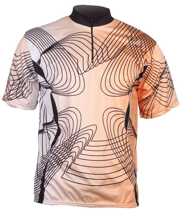 Oranžový pánský nebo dámský cyklistický dres Merco - velikost M