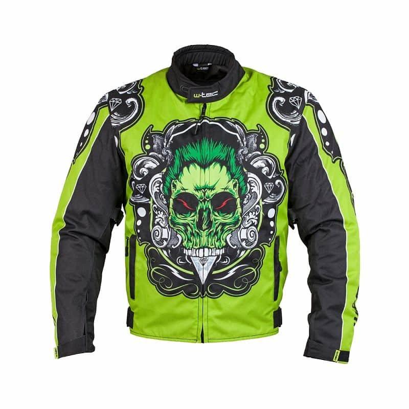 Černo-zelená motorkářská bunda Daemon, W-TEC