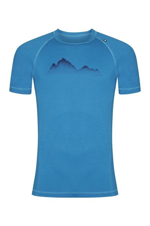 Modré pánské turistické tričko s krátkým rukávem Alpine Pro - velikost 3XL