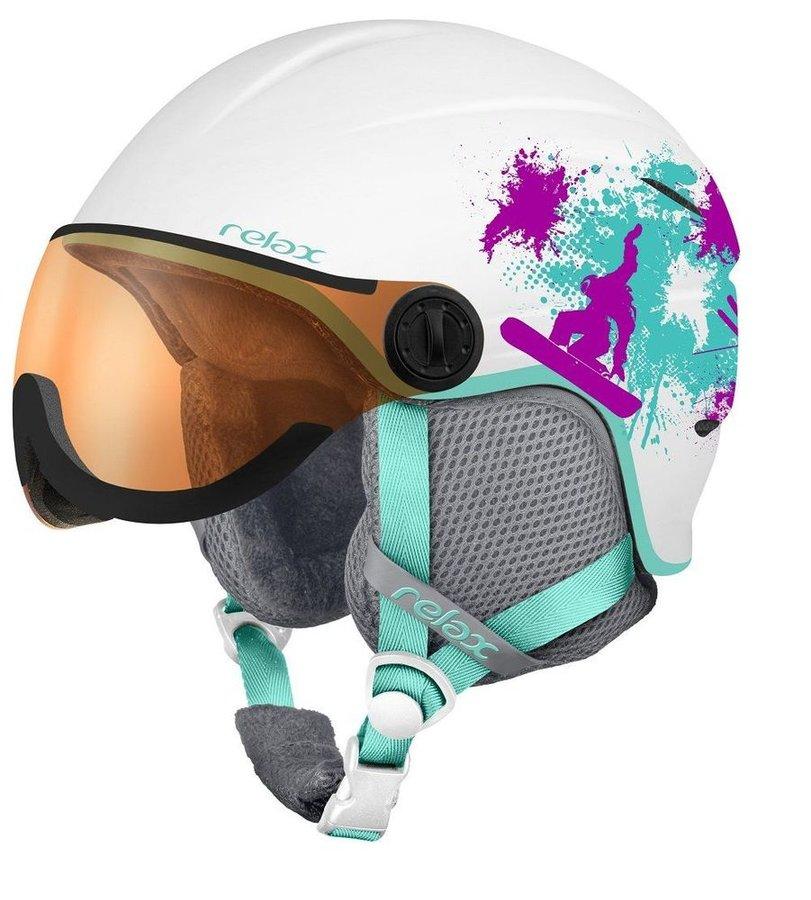 Bílá dívčí lyžařská helma Relax - velikost 49-52 cm