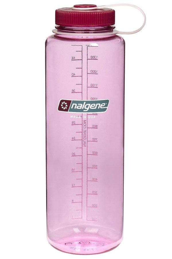 Růžová láhev na pití Wide Mouth, Nalgene - objem 1,5 l