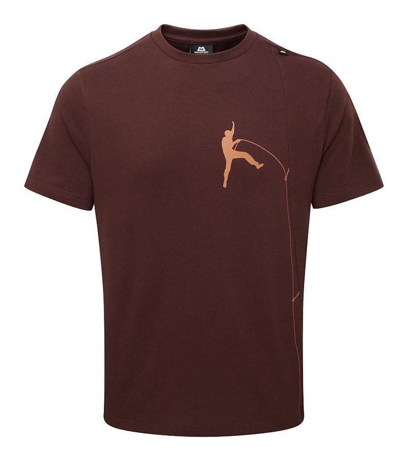 Hnědé pánské turistické tričko s krátkým rukávem Mountain Equipment - velikost XL
