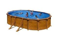 Nadzemní oválný bazén GRE - délka 610 cm, šířka 375 cm a výška 132 cm